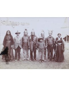 "LOT 299 Geronimo and Group at 1901 Fair - Attributed to C. D. Arnold, c. 1901, 6"" x 8"" (M1339)"