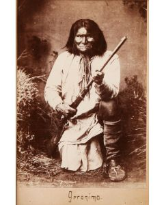 Chiricahua Apache Indian Geronimo Cabinet Card