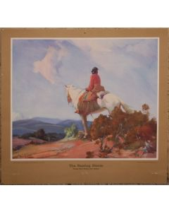 SOLD Gerald Cassidy (1979-1939) - The Passing Storm - Santa Fe Railway Calendar Print