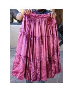 "Vintage Navajo Fuschia Skirt, circa 1940-50s, Fits 23"" Waist"