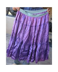 "Vintage Navajo Purple / Violet Skirt with Blue Band at Waist, circa 1940-50s, Fits 38"" Waist"