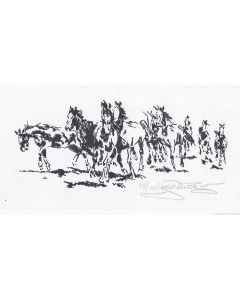 Jack van Ryder (1899-1968) - Horses Running