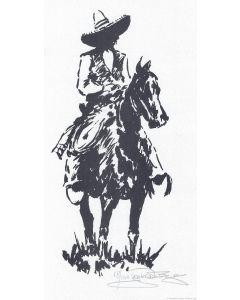 Jack van Ryder (1899-1968) - Vaquero on Horse
