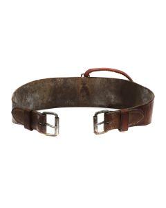 "Vintage Western Leather Belt c. 1920-40s, 35"" length (M1600A)"