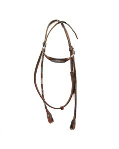 """Vintage Leather Headstall c. 1920s, 17"""" x 7"""" x 6"""" (M1600D)"""