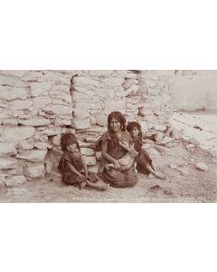 Ben Wittick (1845-1903) - One Evening in Oraibi, Moqui Indian Village, Arizona