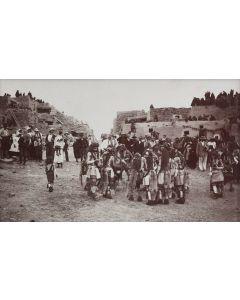 Ben Wittick (1845-1903) - A Snake Dance of the Moqui Indians, Oraibi Pueblo, Ariz. Breaking Up The Dance