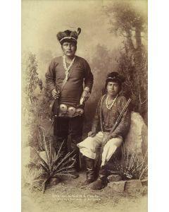 Ben Wittick (1845-1903) - Atta-Kai-Bi-Tzu-Ih & Charlie, Navajo Indians of Arizona