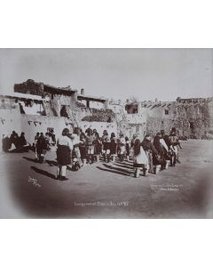 Ben Wittick (1845-1903) - Inauguration Dance Jan 12th, '87, View in Pueblo Laguna, New Mexico