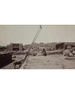 Ben Wittick (1845-1903) - View in Zuni (Old Church Bells Gone)