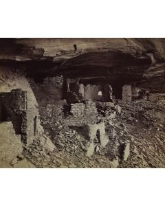 Ben Wittick (1845-1903) - Prehistoric Ruins of Cañon De Chelly, Interior of Mummy Cave