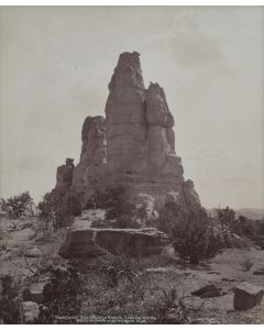 Ben Wittick (1845-1903) - Tzeh-O-Ue The Navajo Church From the North, Old Landmark Near Wingate, NM, c. 1890