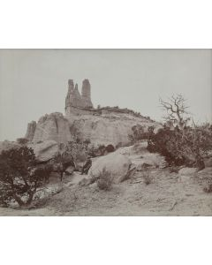 Ben Wittick (1845-1903) - Tzeh-O-Ue The Navajo Church, Old Landmark Near Wingate, NM, c. 1890