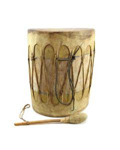 """Pueblo Drum c. 1940s, 14"""" x 12"""" x 9"""""""