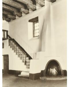 "Photograph by ""Bloom"" - Museum of Fine Arts, Santa Fe, NM, St. Francis Auditorium III, 1950s (8x6) Ex Gerald Cassidy Estate"