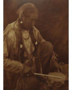 Edward S. Curtis (1868-1952) - Peyote Drummer in Valdor Frame