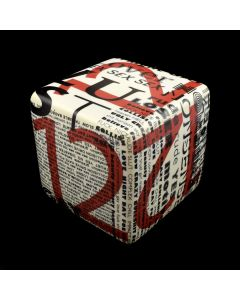 Kaiser Suidan - Porcelain Word Collage Cube