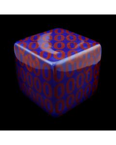 "Kaiser Suidan - Blue and Red ""0"" Porcelain Cube"