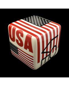 "Kaiser Suidan - ""LOVE USA"" American Flag Porcelain Cube"