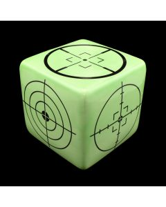 Kaiser Suidan - Green and Black Target Porcelain Cube