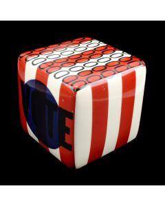 Kaiser Suidan - Porcelain Stripes and Zeroes Love Cube