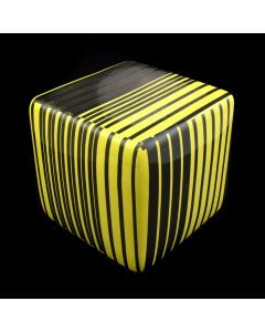 Kaiser Suidan - Yellow and Black Striped Porcelain Cube