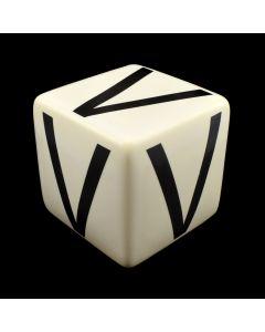 """Kaiser Suidan - Porcelain """"V"""" Cube"""