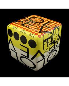 Kaiser Suidan - Multi-Color Word Collage Porcelain Cube