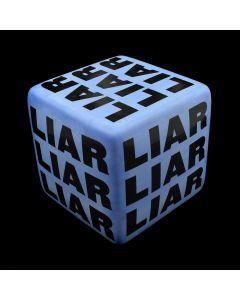 "Kaiser Suidan - Blue ""LIAR"" Porcelain Cube"