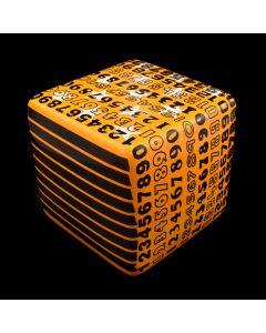 Kaiser Suidan - Orange Number Porcelain Cube