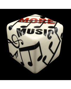 """Kaiser Suidan - Black, White, and Red Music Porcelain Cube, 4"""" x 4"""" x 4"""""""