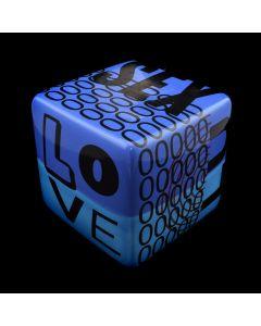 "Kaiser Suidan - Blue ""LOVE and SEX"" Porcelain Cube"