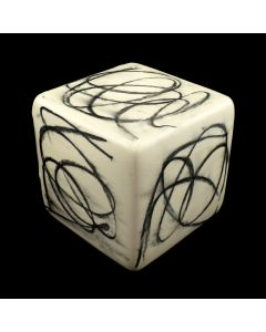 Kaiser Suidan - Black and White Scribbles Porcelain Cube