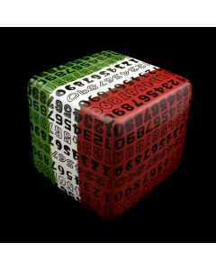 Kaiser Suidan - Green, White, and Red Porcelain Numbers Cube