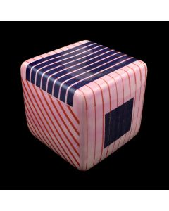 Kaiser Suidan - Pink, Purple, and White Striped Porcelain Cube