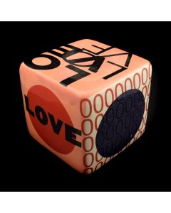 "Kaiser Suidan - Pink and Red ""LOVE"" Cube"