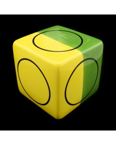 Kaiser Suidan - Green and Yellow Porcelain Cube with Circular Design