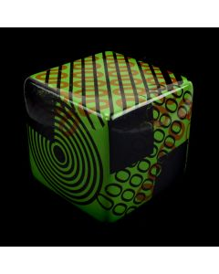 Kaiser Suidan - Green and Red Geometric Zeroes Porcelain Cube