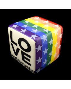 """Kaiser Suidan - Rainbow """"LOVE"""" Porcelain Cube"""