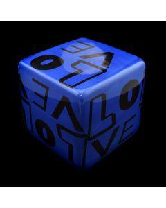 "Kaiser Suidan - Blue ""LOVE"" Porcelain Cube"