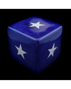 Kaiser Suidan - Blue Star Design Porcelain Cube