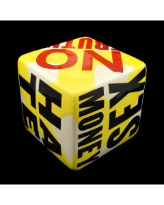 Kaiser Suidan - Yellow Porcelain Word Collage Cube