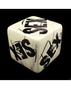 "Kaiser Suidan - Black and White Porcelain ""SEX"" Cube"
