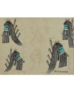 Terrance Talaswaima (Hovantewa) (b. 1939) - Longhair Kachina