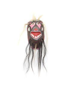 """Jesus Boehiguez Munoz - Yaqui Cottonwood Pascola Dance Mask c. 1960s, 7"""" x 4"""" x 3"""" (M1752)"""