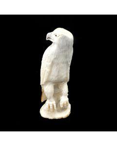 "Derrick Kaamasee – Zuni Antler Red Tail Hawk Fetish, Contemporary, 3.5"" x 1"" x 1.125"" (M1800-090)"