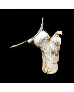 "Ruben Najera – Zuni Antler Eagle Fetish, 2001, 2.75"" x 2.75"" x 1"" (M1800-097)"