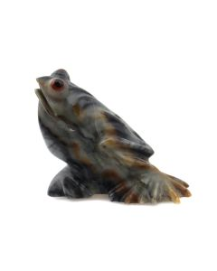 "Ricky Laahty – Zuni Contemporary Picasso Jasper Frog Fetish, 1"" x 1.25"" x 0.625"" (M1800-066)"