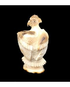 "Estaban Najera - Zuni Bone Parrot Bird Fetish, Contemporary, 1.5"" x 0.75"" x 0.5"" (M1834-18)"