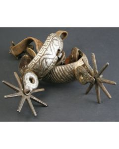 Pair of Silver Mounted Chihuahua Spurs